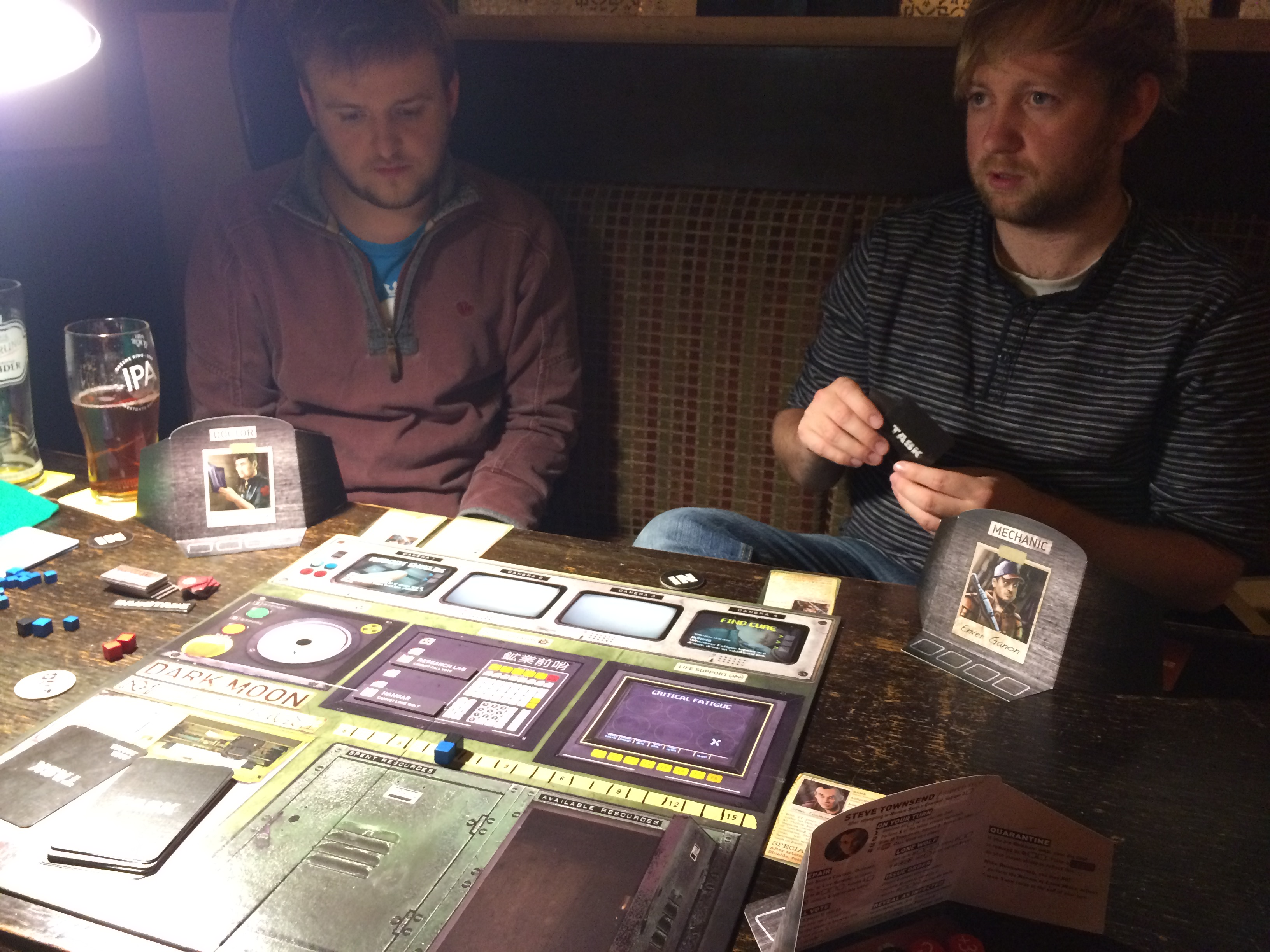 We are playing Dark moon or Battlestar Galactica Express